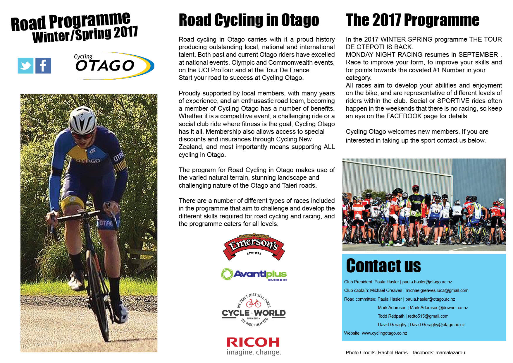 Road Programme 2017 Summer Autumn 2017